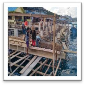 Pembangunan Pelabuahn Perintis Desa Pulau Tiga